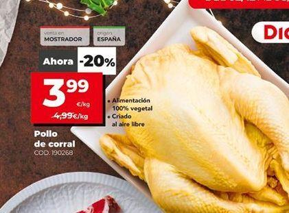 Oferta de Pollo de corral por 3,99€