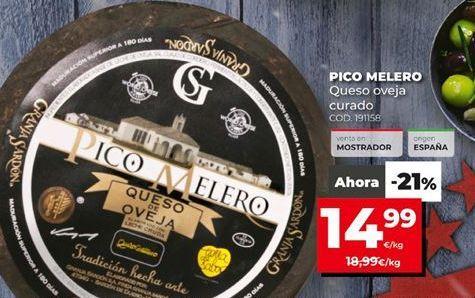 Oferta de Queso de oveja Pico Melero por 14,99€