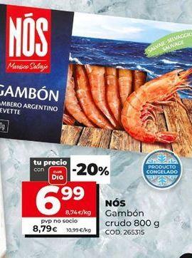 Oferta de Gambones crudos nos por 6,99€
