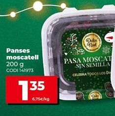 Oferta de Pasas moscatel por 1,35€