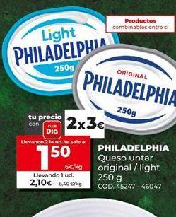 Oferta de Queso Philadelphia por 1,5€