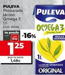Oferta de Leche omega Puleva por 1,25€
