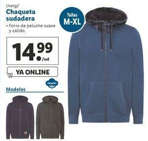 Oferta de Chaqueta sudadera Livergy por 14,99€