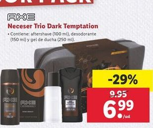 Oferta de Neceser Trio Dark temptation  Axe por 6,99€