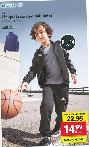 Oferta de Chaqueta de chandal junior  Adidas por 14,99€