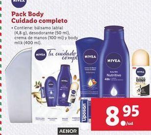 Oferta de Pack Body cuidado completo Nivea por 8,95€