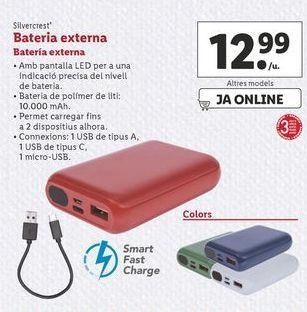 Oferta de Batería externa SilverCrest por 12,99€