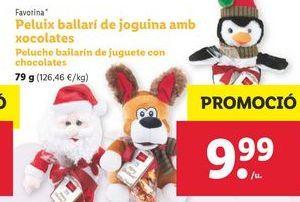 Oferta de Peluches bailarín de juguete con chocolate Favorina por 9,99€