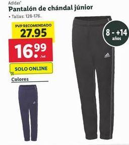 Oferta de Pantalones de chándal junior Adidas por 16,99€