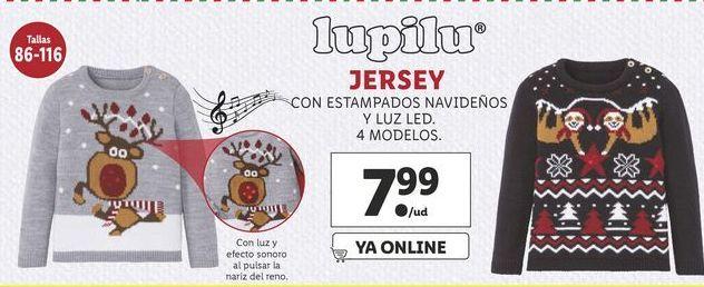 Oferta de Jersey con estampado navoddeño y luz led Lupilu por 7,99€