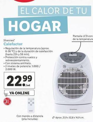 Oferta de Calefactor SilverCrest por 22,99€