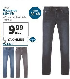 Oferta de Vaqueros slim fit  Livergy por 9,99€