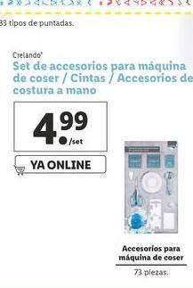 Oferta de Set de accesorios para maquina de coser/cintas/Accesorios de costura a mano crelando por 4,99€