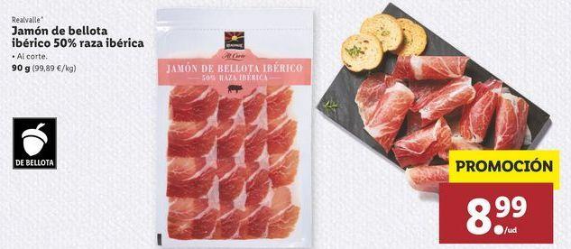 Oferta de Jamón ibérico de bellota raza ibérica Realvalle por 8,99€