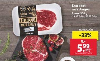 Oferta de Entrecot raza Anfus  por 5,99€