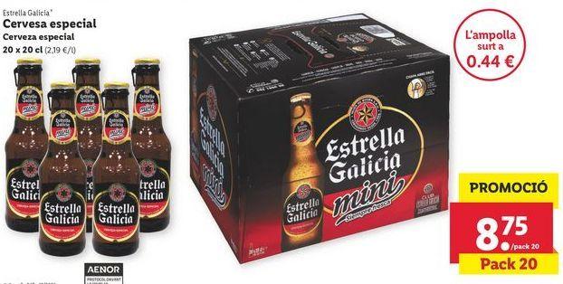 Oferta de Cerveza Estrella Galicia por 8,75€