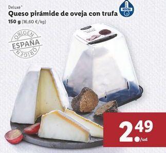 Oferta de Queso pirámide de oveja con trufas por 2,49€