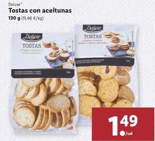 Oferta de Tostas con aceitunas  Deluxe por 1,49€