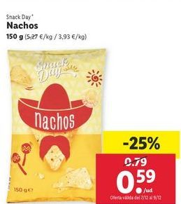 Oferta de Nachos Snack Day por 0,59€