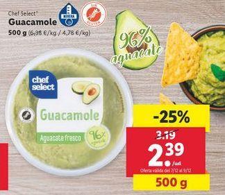 Oferta de Guacamole chef select por 2,39€