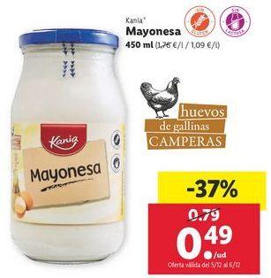 Oferta de Mayonesa Kania por 0,49€