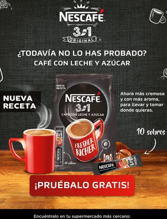 Oferta de Café con leche Nescafé por