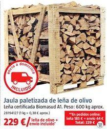 Oferta de Leña para chimenea por 229€