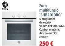 Oferta de Horno multifunción Balay por 250€