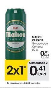 Oferta de Cerveza Mahou por 0,81€