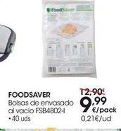 Oferta de FOODSAVER Bolsas de envasado al vacío FSB4802-I por 9,99€