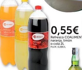 Oferta de Refrescos coaliment por 0,55€