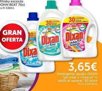 Oferta de Detergente líquido Dixan por 3,65€