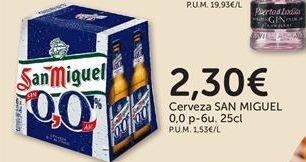 Oferta de Cerveza San Miguel por 2,3€