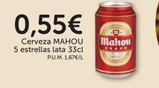 Oferta de Cerveza Mahou por 0,55€