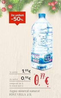 Oferta de Agua Font Vella por 0,77€
