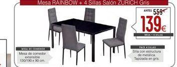Oferta de Conjunto mesa y sillas por 139€