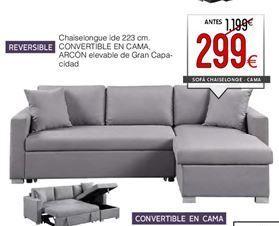 Oferta de Chaise longue con cama por 299€