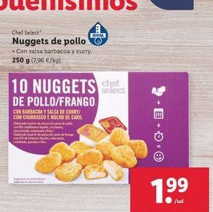 Oferta de Nuggets de pollo chef select por 1€