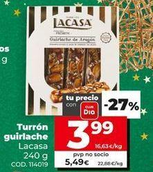Oferta de Turrón Lacasa por 3,99€