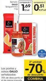 Oferta de Las pastas y salsas GALLO señalizados por 1,69€