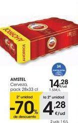 Oferta de Cerveza AMSTEL por 14,28€