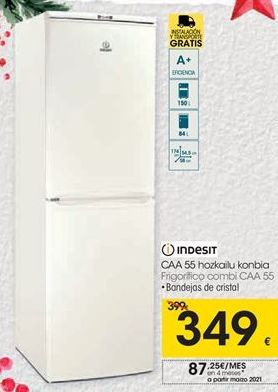 Oferta de Frigorifico combi CAA A5 Indesit  por 349€