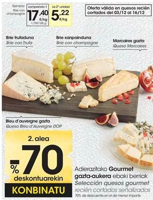 Oferta de Selección quesos gourmet por 17,4€