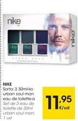Oferta de Set de 3 eau de toilette NIKE  por 11,95€