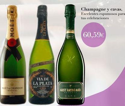 Oferta de Champagne y cavas  por 60,59€