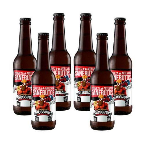 Oferta de Cerveza Sanfrutos Oro Negro - 6 botellas 33 cl por 20,3€