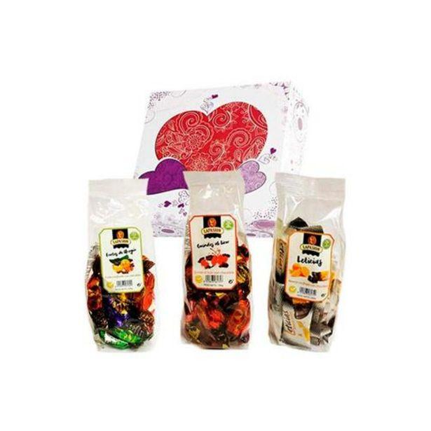 Oferta de Cesta mixta con Frutas de Aragón + Guindas al licor + Gajos de Naranja confitada con chocolate por 23€
