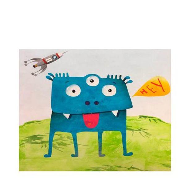 Oferta de Monstruo Azul - Impresión sobre Lienzo 30x30 por 40€