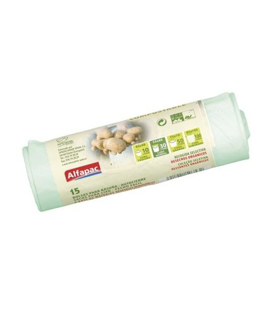 Oferta de Bolsas de basura biodegradables - 55L por 6€
