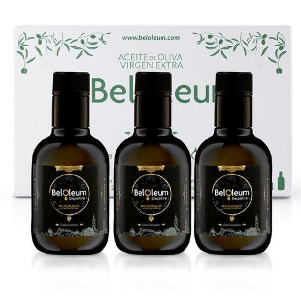 Oferta de Aceite de oliva virgen extra Empeltre - Caja de 12 x 250 ml por 65€